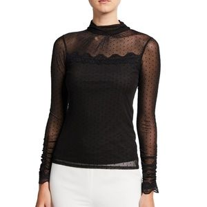 NEW LAUNDRY BY SHELLI  Mesh Lace Top